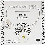 Image of Alex and Ani Charity By Design, Daisy Shiny Silver Bangle Bracelet