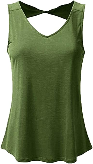 TIFENNY 2019 Hot Womens Fashion Strappy Vest Top Sleeveless Shirt Blouse Casual Tank Tops