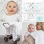 Amazing-Baby-Muslin-Swaddle-Blankets-Set-of-4-Premium-Cotton-Little-Village-and-Trees-Black