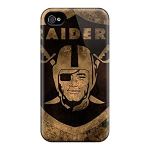 Bumper Hard Cell-phone Case For Iphone 4/4s With Provide Private Custom High Resolution Oakland Raiders Skin MansourMurray