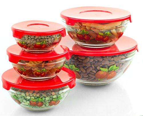 Amazon Uk Red Glass Bowls