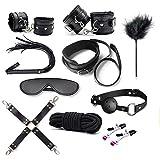 PBONL 10 pcs Tactical Restraint Handcuffs Ankle Cuffs Bracelet Kits