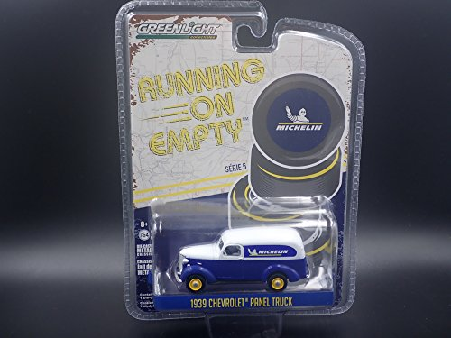 Greenlight -SOLD BY BRTC 1939 CHEVY CHEVROLET PANEL TRUCK MICHELIN RARE 1:64 SCALE DIECAST MODEL CAR
