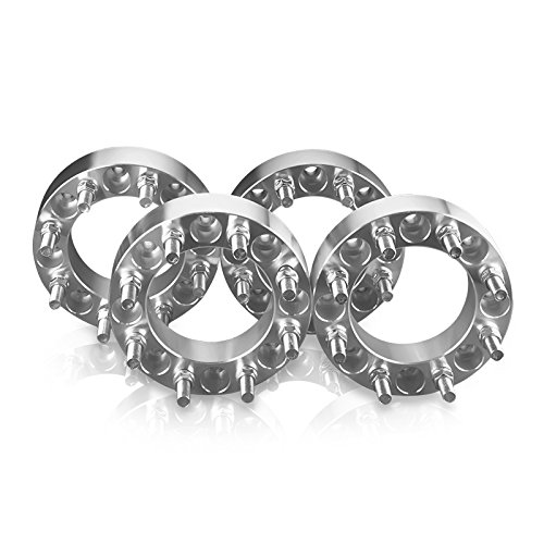 4 Wheel Spacers Adapters For 8 Lug Trucks 8X6.5 (8X165.1) Fits: Ford: F250 F350 Chevy: Suburban Dodge Ram 1500 2500 3500 - 2 Inch Thick (Mm Aluminum Wheel Spacers)
