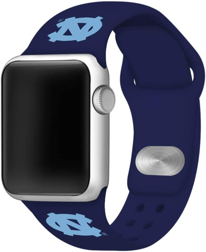 AFFINITY BANDS North Carolina Tar Heels Silicone Sport Watch Band Compatible with Apple Watch (38mm/40mm - Navy Blue)