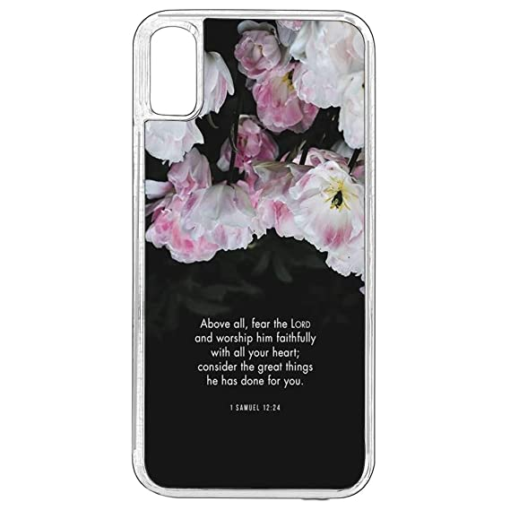 Amazon com: iPhone X Case,iPhone X Christian Quotes Case,Christian