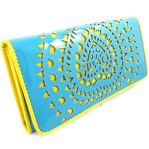 Wallet + checkbook holder 'Agatha Ruiz De La Prada' turquoise yellow.