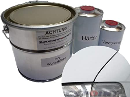 Lackpoint 1 Litre Set 2k Car Paint For Vw R902 Grey White No Clear Lacquer Required Trend T4 Auto