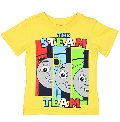 Thomas & Friends Short Sleeve Tee (3T, Yellow Steam Team)