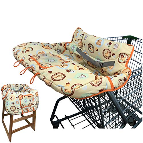 Baby Shopping Cart Cover High Chair Cover for Baby Grocery Cart Cover Highchair Cover for Babies Infants Cushy Cart Seat Cover Cart Protector for Girl or Boy. Baby Registry Gift