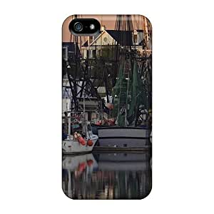 Hu Xiao Awesome OnlineChoice Defender Tpu case cover For Iphone 5/5s- Fishing Boats In Mount 3uYzRcqiXY1 Pleasant So Carolina