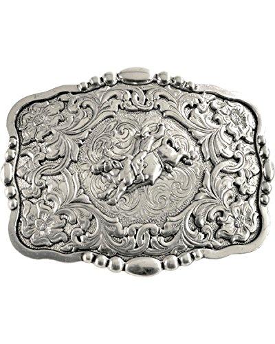 Nocona Men's Bull Rider Buckle Silver One Size