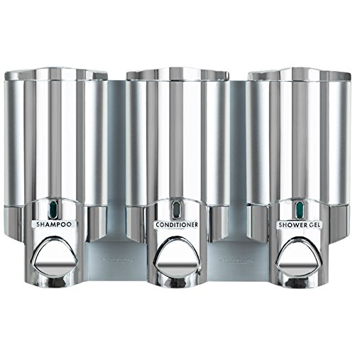Aviva III Triple Locking Chrome Translucent Dispenser