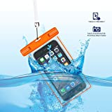 GH GHawk Universal Waterproof Phone Pouch, Large Phone Waterproof Case Underwater Dry Bag for Samsung Galaxy S6 edge plus, Soft TPU Pouch for All Cellphone up to 6.5'