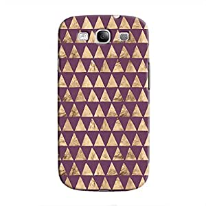 Cover It Up - Brown Purple Triangle Tile Galaxy S3 Hard Case