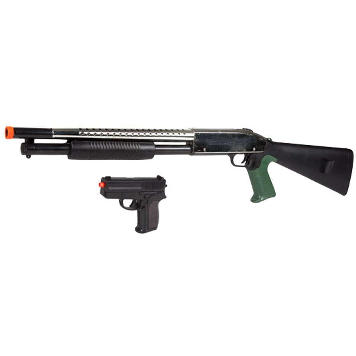 amazon com shotgun and pistol black airsoft package airsoft gun