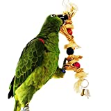 Natural Straw Chew Toy Pet Parrot Macaw African Greys Budgies Parakeet Cockatiels Conure Macaw Lovebird Cage Hanging Toy