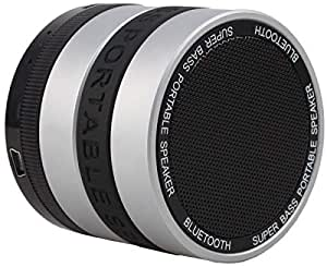 Portable Mini Bluetooth Wireless silver nd black Speaker Portable Bass For pc iphone tablet samsung