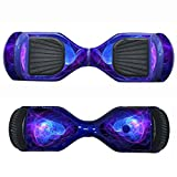 SKINOWN Self Balance Two Wheel Balance Board Hover Scooter Sticker Protective Skin Wrap Adhesive Vinyl Decal Cover - Blue Purple Lines