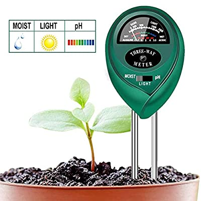 Soondar Soil Test Kit 3-in-1 Soil PH Meter, Soil Tester, Moisture, Light & pH Meter for Plant, Vegetables, Garden, Lawn, Farm, Indoor & Outdoor Use