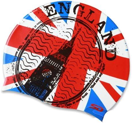 Gorra de natación de silicona con bandera de Inglaterra: Amazon.es ...