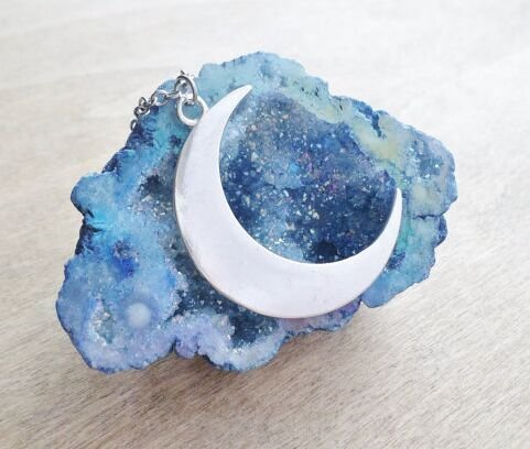 large-silver-crescent-moon-necklace