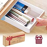 Easy Eco Life Pen Pencil Tray/ Remote Tray -- Self Stick Pop Up Under Desk Table Drawer Organizer Holder ( Best Gift For Kids, Gift Package)