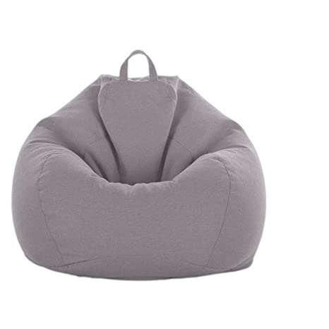 Pleasant Fityle Adult Size Bean Bag Cover Large Beanbag Without Filling Children Stuffed Animal Toys Storage Beanbag Covers Only Gray Ibusinesslaw Wood Chair Design Ideas Ibusinesslaworg