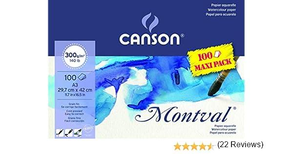 Canson Montval color blanco natural A3-29.7 x 42 cm Bloc papel de acuarela