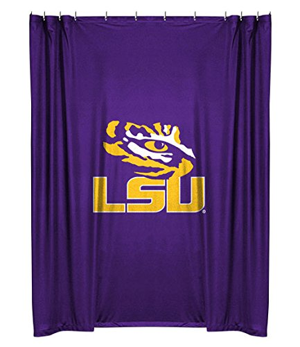 Tigers Ncaa Shower Curtain - NCAA LSU Fightin Tigers Shower Curtain
