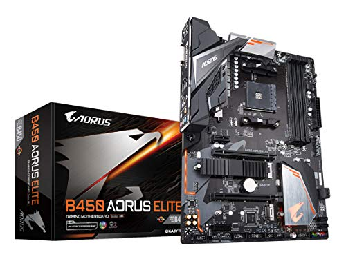 - GIGABYTE B450 AORUS Elite (AMD Ryzen AM4/ M.2 Thermal Guard/Hmdi/DVI/USB 3.1/DDR4/ATX/Motherboard)