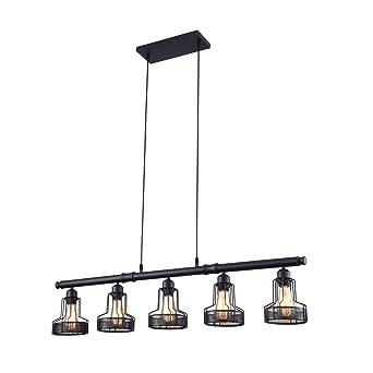 best website a54ae cc0d0 mirrea Rustic Kitchen Island Lights 5 Lights Ceiling Light Fixture Black  Painted