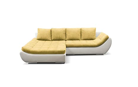 Amazon.com: Hugo Sectional Sleeper Sofa, Left Corner (White ...