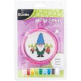 Bucilla My 1st Stitch Mini Counted Cross Stitch Kit, 5.125 by 7.625-Inch, Gnome