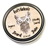 Hoot's Naturals Beard Balm, Extra Large 3.5oz - Organic Beard Oil and Butter Recipe with No Added Fragrance - Leave-In Beard Softener and Conditioner, That Thickens, Strengthens and Styles Facial Hair Growth
