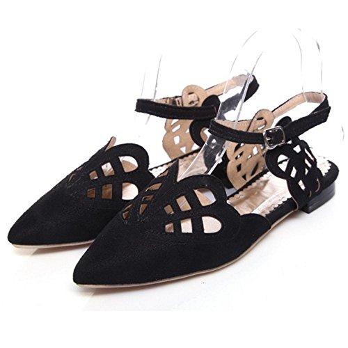 Coolcept Mujer Correa de Tobillo Bombas Zapatos Black