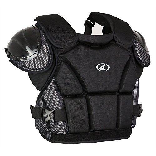 (CHAMPRO Pro-Plus Umpire Chest Protector Black Adult M (13