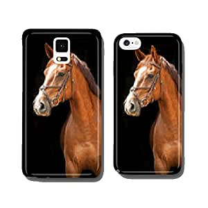 Portrait of red horse on black background cell phone cover case iPhone5