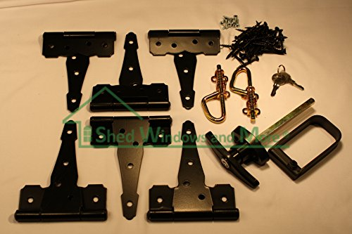 Shed Door Hardware Kit, Colonial T Hinges 6
