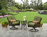 3-Piece Outdoor Furniture Set, Better Homes and Gardens Azalea Ridge 3-Piece Outdoor Bistro Set, Green, Seats 2 For Sale