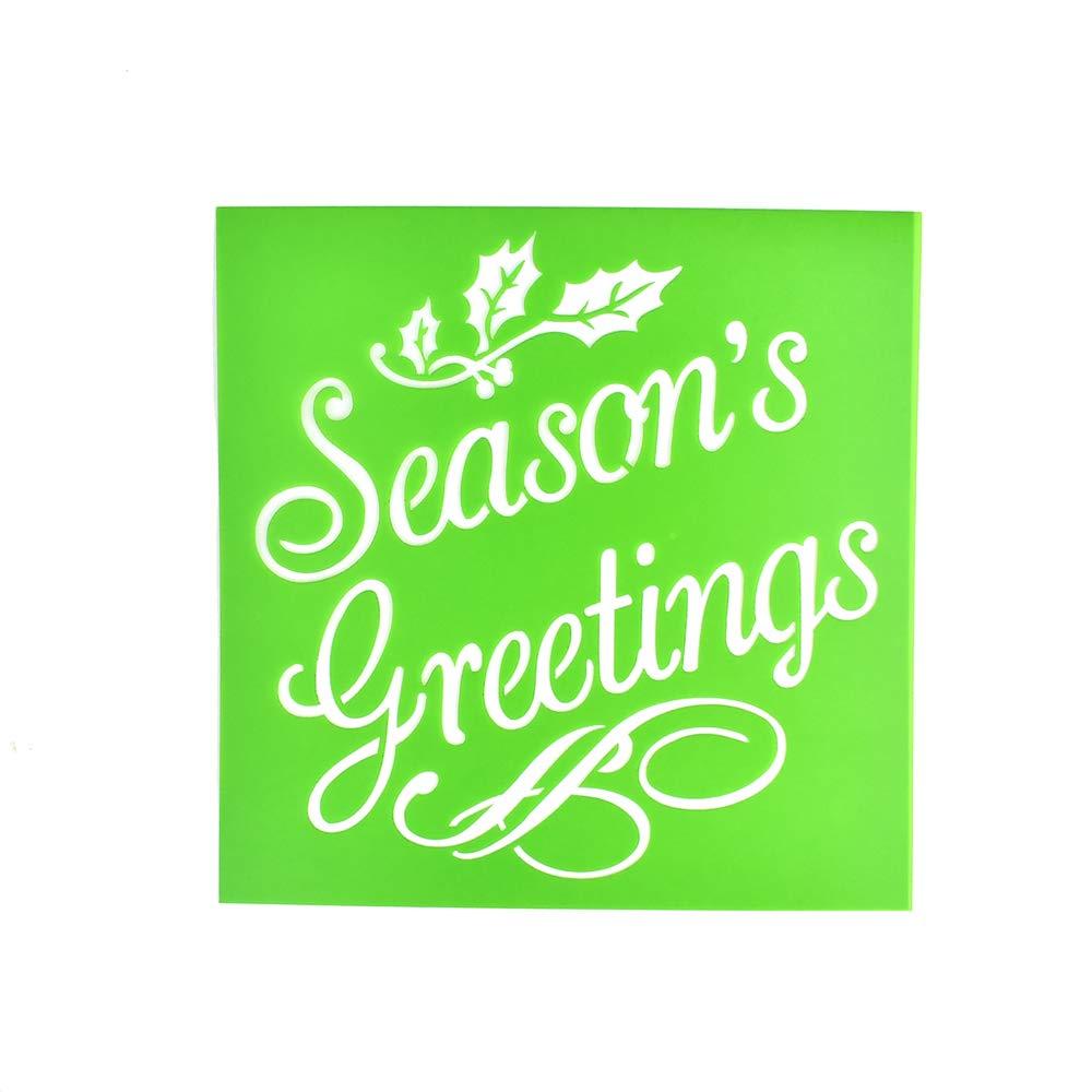 Homeford「Season's Greetings」クリスマスマルチメディアステンシル、6インチ   B07L5Y7NW3