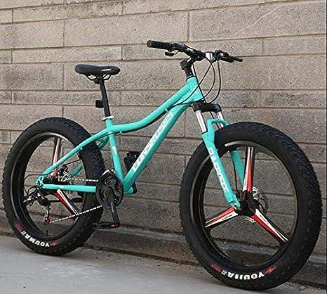 GASLIKE Bicicleta de montaña, Bicicletas de montaña rígidas, Cuadro de Acero con Alto Contenido de Carbono, Freno de Doble Disco y Horquilla de suspensión Delantera, Ruedas de 26 Pulgadas