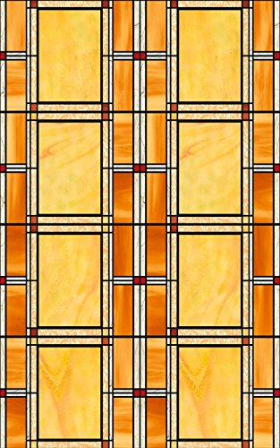 Film Roll Border - Arts & Crafts Stained Glass 3460437 Window Film Set of 2 Rolls