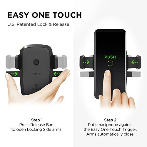 iOttie Easy One Touch Qi Wireless Fast Charge Air Vent Car M
