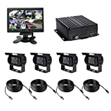 TrackSec T17-C028 4 Channel AHD 720P H.264 HDD Vehicle Surveillance Camera System, black