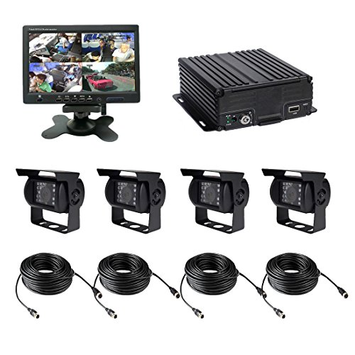 720p Vehicle (TrackSec T17-C028 4 Channel AHD 720P H.264 HDD Vehicle Surveillance Camera System, Black)