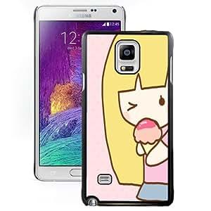 Unique Designed Cover Case For Samsung Galaxy Note 4 N910A N910T N910P N910V N910R4 With Cartoon Beauty Girl 03 Phone Case Cover