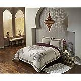 Blissliving Home Marrakesh Bahia Palace Duvet Set, Full/Queen, Burgundy