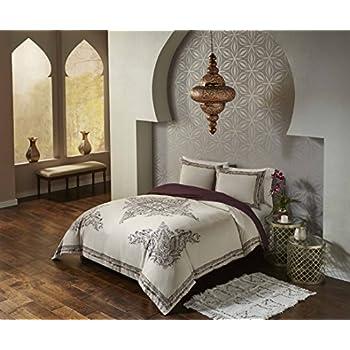 Blissliving Home Blissliving Marrakesh Bahia Palace Duvet Set  Full/Queen,Burgundy,Full/Queen