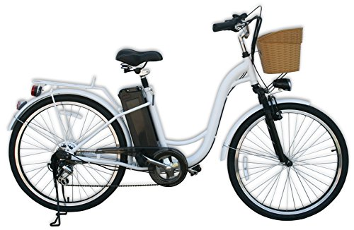 "Watseka XP Cargo-Electric Bicycle-26""-6 speed-Adult/Young Adult (White)"